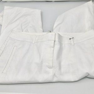 Chico's White Cotton Stretch So Slimming Jeans